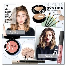"""Beauty Routine"" by anna-anica ❤ liked on Polyvore featuring beauty, Lumière, Giorgio Armani, Armani Beauty, Ilia, Dr.Hauschka, NARS Cosmetics, Beauty, makeup and routine"