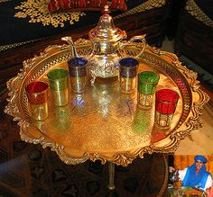 Moroccan Kaftan | Tea glasses Moroccan