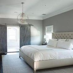 also love this wall color-- Cory Connor Design - bedrooms - Benjamin Moore - San Antonio Gray -
