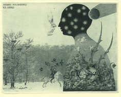 Konstantin Kalynovych etching: St. George in The Snow.