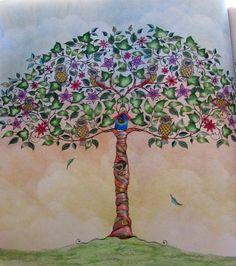 Jardim Secreto Arvore Com Fundo De Ceu Lost OceanAdult ColoringColoring BooksColoring PagesJohanna Basford