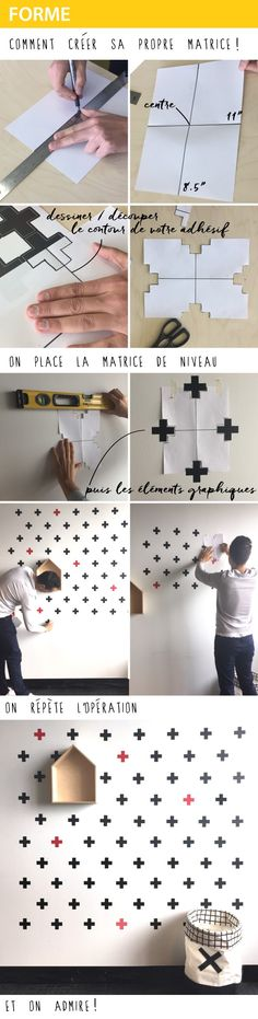 Heart Diy, How To Apply, How To Make, Home Projects, Wall Decals, Kids Room, Check, Pattern, Products