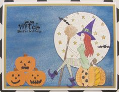 I just listed You Say Witch Halloween greeting card handmade shimmery spooky on…
