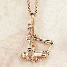 "This beautiful 14k gold Horse Halter Necklace is hand made and hand finished for superior quality by Ashley's on 18"" Diamond Cut Cable Chain. Now available in sterling silver."