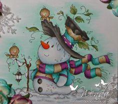Copic Marker Benelux: Cool Christmas - Snow / Pop: N2 - BV20 - B000 - N0 Background: BG11 - BG10 Green / Blue: BG49 - BG57 - BG13 - BG53 Purple: V09 - V06 - V05 Black: T9 - T7 - T6 - T5 - T4 Brown: E44 - E43 - E42 - E40 Leaves: YG67 - YG65 - YG61