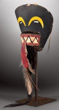 TSAKWAYNA - Masque facial (demi-masque) chakwaina (Colton 160). hopi