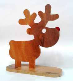 rudi reindeer  cut on the cnc  pretty cute guy rudolph the red nosed reindeer