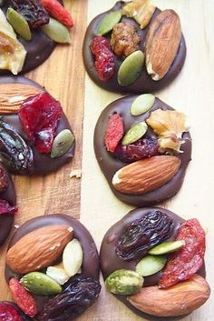 Dark Chocolate Trail Mix Energy Bites | 25 Make-Ahead Snacks That Are Perfect For Traveling
