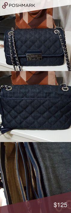 6a8bd5556e Kors Sloan Medium Denim handbag Excellent condition! Handbag or crossbody.  Excellent condition with only