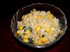 Kukoricás barna rizs zöldhagymával Vegetarian, Dishes, Vegetables, Food, Tablewares, Essen, Vegetable Recipes, Meals, Yemek