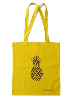 77b292d53892a Rucksäcke   Beutel - Tasche statt Tüte - ANANAS - Senfgelb - ein  Designerstück von ambaZamba