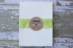 """""""Photos enclosed, do not bend"""" rubber stamp by Corina Nielsen!  Packaging idea for rubber stamps."""