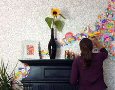 Wallpaper You Can Color sian zeng magnetic wall paper for kids | drawing on the walls