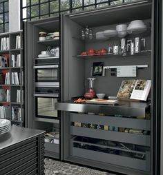 Idea, techniques, including quick guide beneficial to receiving the most effective outcome and also coming up with the max utilization of Kitchen Cabinetry Remodeling Diy Kitchen Storage, Home Decor Kitchen, Kitchen Furniture, Home Kitchens, Kitchen Ideas, Door Storage, Hidden Kitchen, Open Plan Kitchen, New Kitchen