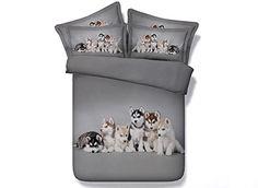 Ammybeddings Adorable Puppies Digital Printing 3D Bedding Sets