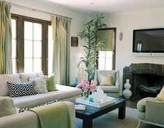 Vasos e folhagens na decoração
