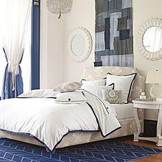 Blue and white interior