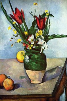 Tulips and Apples, by Paul Cezanne