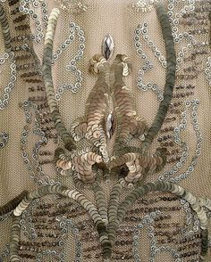 antique embroidery Embroidery Detail 1910-1914 VINTAGE HAUTE COUTURE
