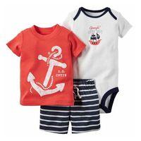 Frete grátis venda quente bebes menino roupas de verão conjunto de roupas de…