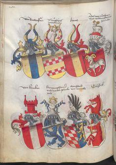 Grünenberg, Konrad: Das Wappenbuch Conrads von Grünenberg, Ritters und Bürgers zu Constanz um 1480 Cgm 145 Folio 285