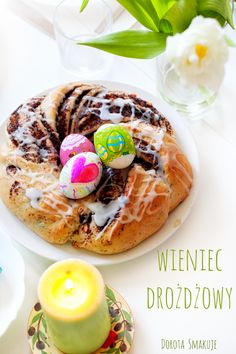 Wielkanocny wieniec z makiem #Easter #cake with #poppyseeds Doughnut, Poppies, Seeds, Easter, Cake, Ethnic Recipes, Desserts, Food, Tailgate Desserts
