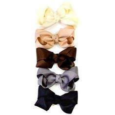 Girls 3.5 set of 5 grosgrain hair bows in black, cream, chocolate, silver & tan My Little Legs,http://www.amazon.com/dp/B004Y279AY/ref=cm_sw_r_pi_dp_EsWKrbB54AE34FAF
