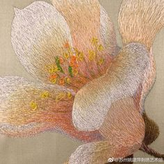 Floral Embroidery, Hand Embroidery, Long And Short Stitch, Thread Painting, Needlework, Flowers, Easter Crafts, Thread Art, Embroidery