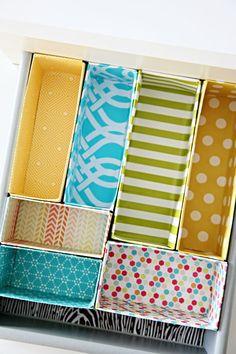 DIY Cereal Box Drawer Dividers. | interiors-designed.com