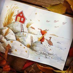 Outi Kaden (@outi_kaden) • Instagram photos and videos Next Year, Migratory Birds, Ture Love, Bye Bye, Cute Illustration, Illustrations, Photo And Video, Videos, Cards