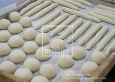 Tray of Bun and Soft Roll Dough