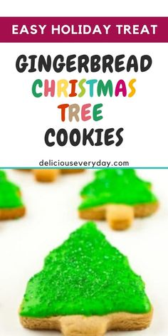 These Gingerbread Christmas Tree cookies are bursting with sugar and spice, and sure to brighten up your next Christmas celebration!