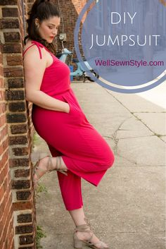 DIY Jumpsuit! So I've got a thing for jumpsuits. They make getting dressed super easy and unlike dresses, I don't have to worry about my thighs burning like the fire of hades after strolling a few city blocks. This jumpsuit is made from the Closet Case Patterns Sallie jumpsuit pattern and is definitely one of my favorite jumpsuits. Check it out here: http://www.wellsewnstyle.com/2017/08/23/another-diy-jumpsuit-dont-mind-if-i-do