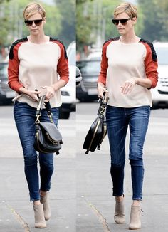"""Charlize Theron Carries the """"Jennifer"""" Bag, Looks Gorgeous Even in Casual Clothes"""