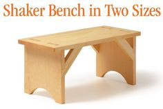 Shaker Bench in Two Sizes SketchUp Plan (Digital Plan).  Would work nicely in the back porch.