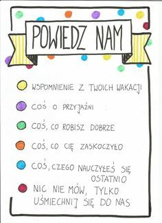 powiedz nam po wakacjach Learn Polish, Zumba Kids, Polish Language, Educational Crafts, Early Education, Home Schooling, Art Therapy, Kids And Parenting, Activities For Kids