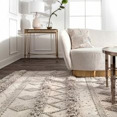 Union Rustic Lynch Hand Tufted Wool Stone Area Rug Rug Size: Runner x Contemporary Area Rugs, Modern Rugs, All Modern, Modern Decor, Modern Boho, Grey Rugs, Beige Area Rugs, White Rugs, Black Rugs