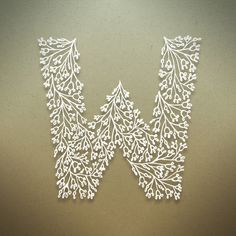An Intricate Hand-Patterned Alphabet Inspired By Lovely Plants - DesignTAXI.com