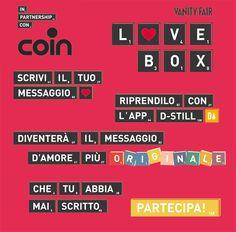Coin - Partecipa a Love Box, il video d'amore più originale mai creato!
