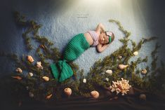 charlotte newborn photographer | mermaid newborn. #mermaid #newborn #photography…