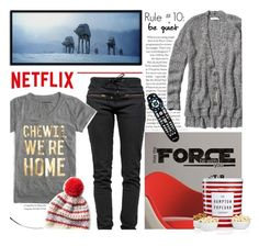 """""""What to Wear: Netflix Binge"""" by parkersam76 ❤ liked on Polyvore featuring Ragdoll, J.Crew, RoomMates Decor, Abercrombie & Fitch, The Hampton Popcorn Company, WhatToWear and polyvoreeditorial"""