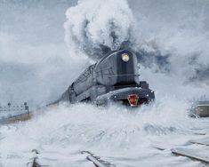 """Dashing Through The Snow"" ~ David Mittner ~ Acrylic On Canvas"