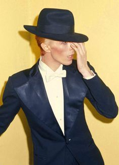 David Bowie at the Grammys, 1975, by Ron Galella