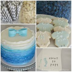 Blue and White Baby Shower