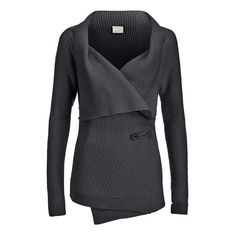 Vero Moda Women's Ripa Long Sleeve Cardigan - Dark Grey Melange ($30) ❤ liked on Polyvore featuring tops, cardigans, jackets, outerwear, casaco, grey, gray cardigan, ribbed cardigan, dark gray cardigan and drape top