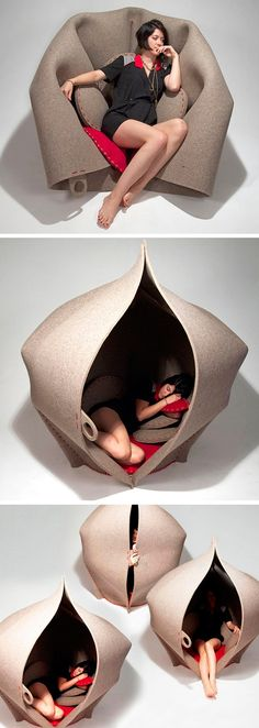 Hush Pod -- interesting, but since I can almost literally sleep anywhere, not for me!