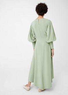 Струящееся платье из модала | MANGO МАНГО