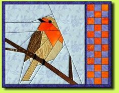 Картинки по запросу paper piecing template bird