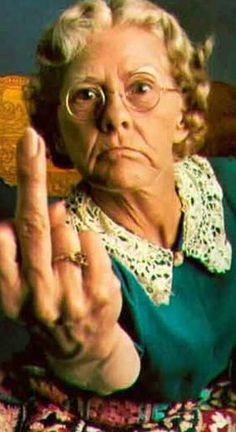 Old People Flipping The Bird