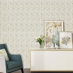 Geometric Hexagon Wallpaper Modern Contact Paper Peel And Stick Wallpaper For Bedroom Shelf Drawer Liner Easy To Use